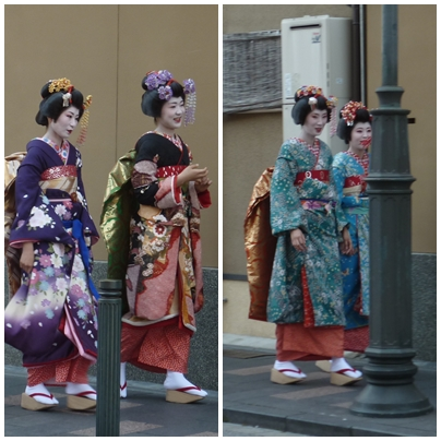 photos of maiko and geiko in kyoto
