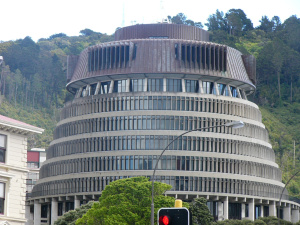An iconic Wellington building called the Beehive.  It is part of our Parliament building complex.
