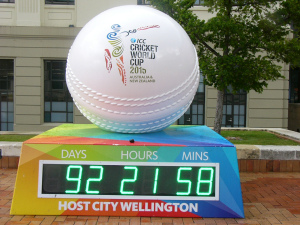 In 2015, the Cricket World Cup will be held in New Zealand.